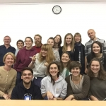 Z.Bedalis and N.Baumiliene 's visit to the summer course in Sudeikiai
