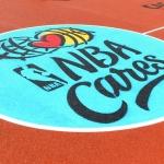 NBA Cares ir CAF America logotipai