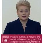 LR Prezidentė D. Grybauskaitė JT reklaminiame video