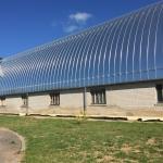 Mokyklos bendrabutis, sporto ir dienos centras bus įkurti renovotame kolūkio angare