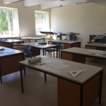 Classrooms. The instruction is performed on 50/50 model. One week in the classroom. The second one in the workshop