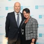 Dr. V. Makauskienė su Bruce Willis