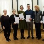 J. Kazickaitė ir A. Altman su JPK stipendijų gavėjais