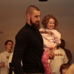 Valanciunas at Saturday's event. (NBPA)