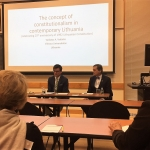 Vaidotas Vaicaitis during his presentation with Bradley Woodworth