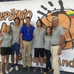 "Kazickas Family members (from left): Lucy, Augie, John, Alex, Marcie and Joseph during ""Basketball Power"" end of 2015-2016 season event in Utena"