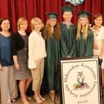 School's graduates with the teachers