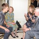 Marcie Kazickas, President Adamkus and Alma Adamkiene with ASSIST alumn
