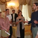 Peter Kazickas su studentais