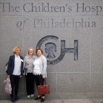 R. Kiudeliene, L. Palmer and G. Rutkauskiene at the Childrens Hospital of Philadelphia