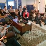Naujienų ir pokyčių Lietuvoje po praeitų rezidentų vizitų pristatymas bei savo projektų pristatymas UC Global Health komandai ir kolegoms, kuris vyko dr. Stewart Wright namuose
