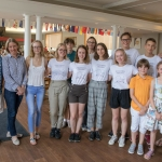 ASSIST Lithuania students 2018-2019 with program's directors Woody Rutter and Joe Gould and KFF representatives Neila Baumiliene and Ginte Genender with families