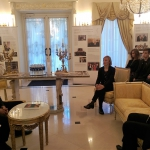 Moments from the Meeting at the Kazickas Residence in Vilnius