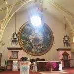 Iš asmeninio S. Lazdauskaitės archyvo: Ėmimo į Dangų bažnyčios viduje, Katmandu