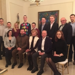 Emergency Medicine and KFF teams at the Kazickas Family Residence in Vilnius