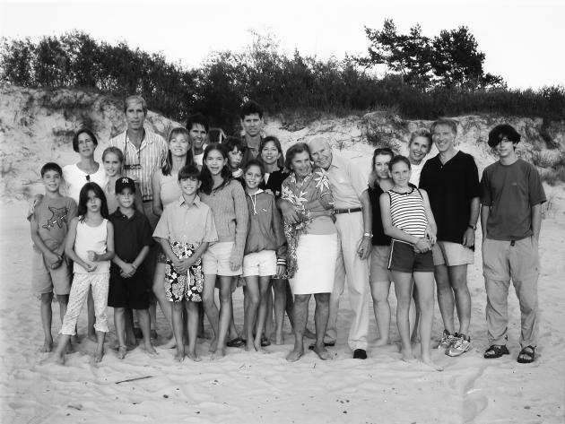 Kazickų šeima Palangoje 2001 m.