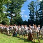 Neringos stovyklautojų pasirodymas Lietuvių vasaros Festivalyje Putname 2019