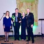 "Ambassador R. Krisciunas presents LF Board member Marius Kasniunas with a ""Lithuanian Diplomacy Star"""
