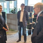 Meeting at Danske Bank (on the left: SVP, Head of Global Services Lithuania Rosita Vasilkeviciute)