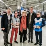 Jurate Kazickas, John Kazickas and Arminas Vareika with Decathlon team