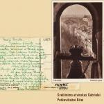 A. Kazickienės sveikinimo atvirukas G. Petkevičaitei-Bitei, 1940 m. kovo 17 d.