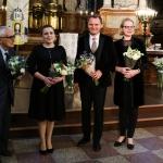 Prof. L. Digrys, soloists Milda Baronaite and Liudas Mikalauskas, and prof. Renata Marcinkute-Lesieur