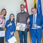 Fondo Vilniaus ofiso direktorė A. Vertelkaitė, BTLT vadovė K. Naraitė, P. Kazickas ir Pamžnevėžio meras R. Račkauskas