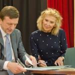 KTU Rektorius P.Baršauskas ir Jūratė  Kazickaitė 2012