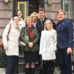 Jurate Kazickaitė, Jonas Kazickas ir fondo darbuotojos su JPK'2017 V. Vaičaičiu ir J. Mickute bei JPK'15 I. Matijošaitiene