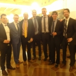 Dr. J. P. Kazickas Grandsons with the Capital Basketball School Administration in Vilnius, Lithuania, Nov 2014
