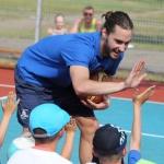 Peter Kazickas with Basketball Power Children, June 2015