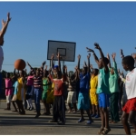 Peter Kazickas with Hoops 4 Hope in Zimbabwe in 2013