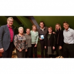 """Jurate, John and Michael Kazickas with KFF director in Vilnius Agne Vertelkaite and """"Mothers Union"""" team"""
